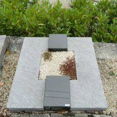 90050 Urnengrab Orion Indisch Blakck Form UR 42 Außenmaß 90x90cm