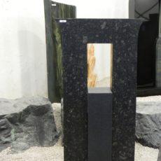 0394 Oberteil Steel Grey Indisch Black Form 1235 55x14x100cm 15x20x55cm 60x25x6cm