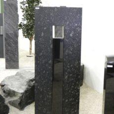 0411 Oberteil Steel Grey Form 23 15 52x16x130cm 12x16x96cm 65x20x10cm