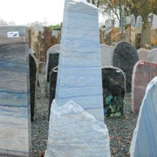 AM 105 Felsen Azul Quarzit Macauba Kristallspitze Poliert Spaltrau 50x20 14 133cm