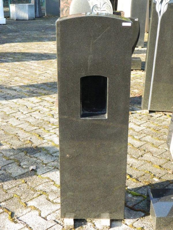 0485 Oberteil Indisch Black Poliert Mit Nische 35x18x110cm