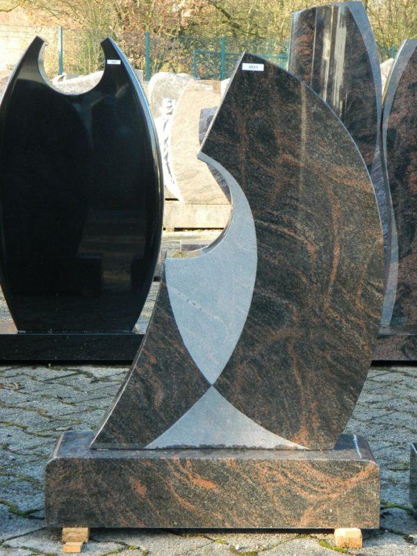 0511 Oberteil Kastania Poliert Gesandstrahlt Form AB 16 16 58x14x78cm 65x20x14cm