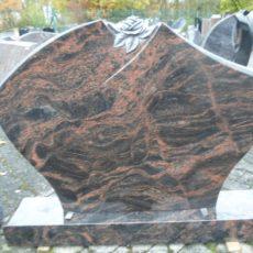 0679 Oberteil Kastania Poliert Form 1455R Ornament 110x12x80cm 120x20x12cm