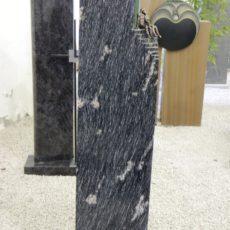 0739 Stele Duke Black Poliert Form URST47 30x14x110cm