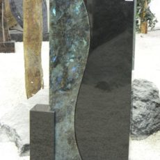 0824 Oberteil Ind.Black Opal Form AB 16 03 23x15x100cm 30x14x95cm 14x14x32cm