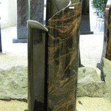 0887 Oberteil Indish Black Kastania Form 21 19 20x14x85cm 25x14x100cm 50x25x6cm