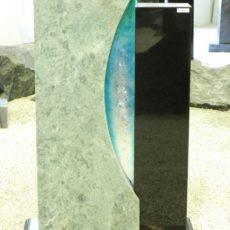 0891 Oberteil Indish Black Blue Riff Form 18 03 34x14x85cm 18x14x77cm 60x20x8cm