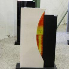 0896 Oberteil IndishBlack Gohara Limestone Form AB 18 04 34x14x85cm 18x14x77cm 60x20x8cm