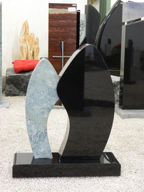 0912 Oberteil Ind.Black Blue Riff Form AB 18 06 20x12x61cm 36x15x70cm 65x22x8cm