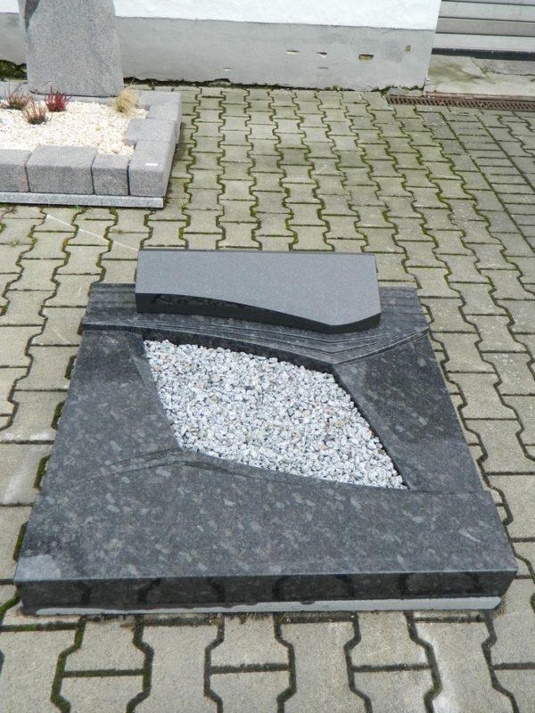 90287 Urnengrab Steel Grey Form 219 19