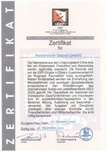 Zertifikat China